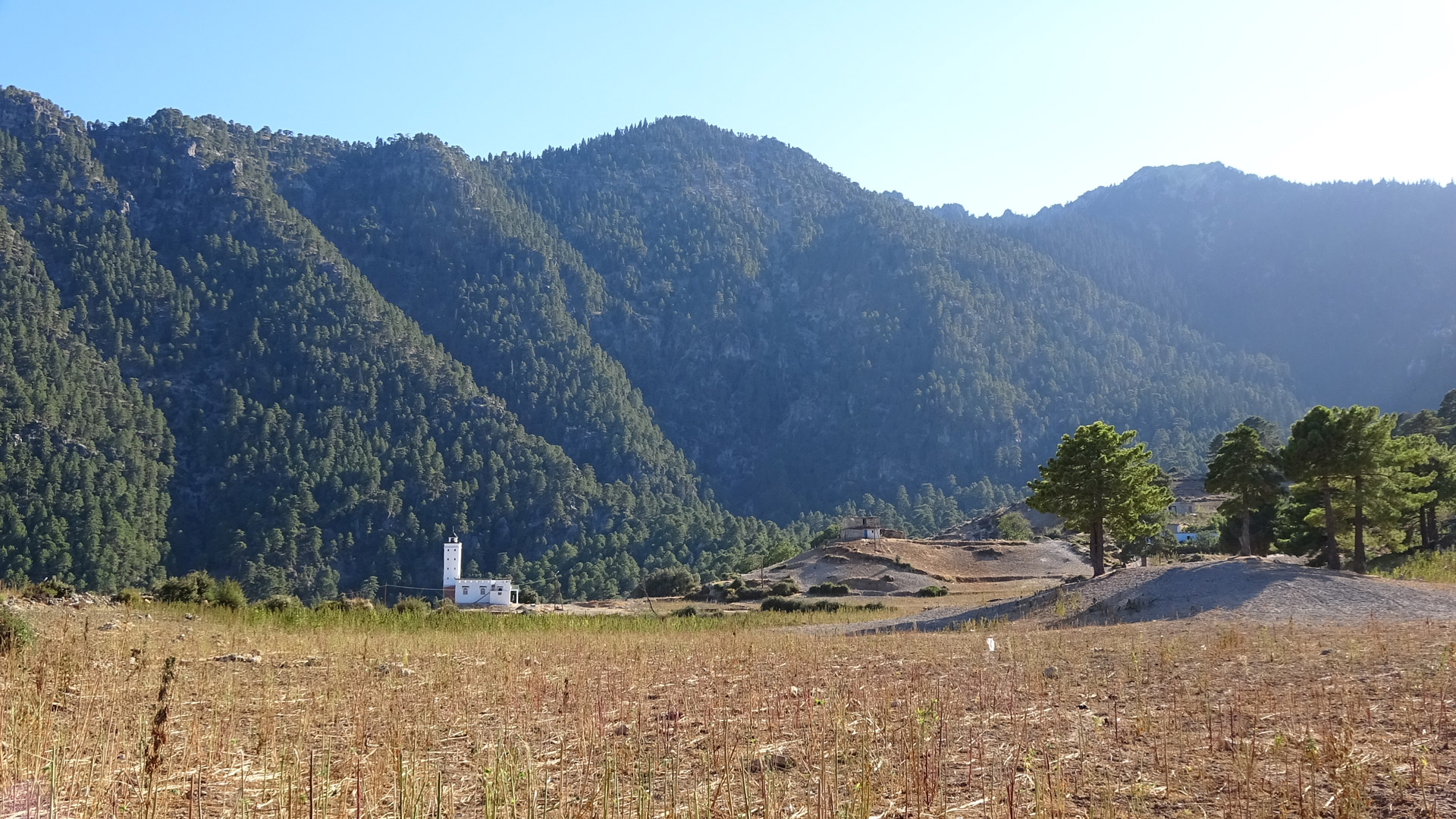 The tiny village of Azilane, home to Abdelkater's gîte.